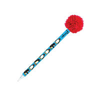Pingu Ballpen With Pom Pom Topper