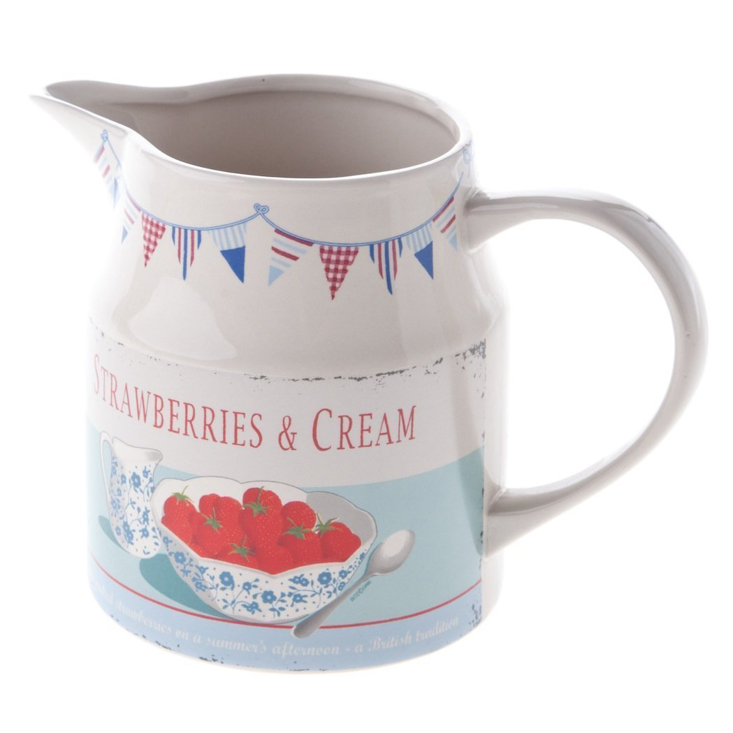 Strawberries & Cream 650ml Ceramic Jug