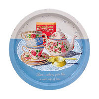 Nice Cup Of Tea Round Tin Tray