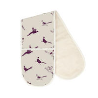Woodland Trust Pheasant Repeat Pattern Double Oven Glove