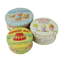 Set of 3 Coffee Break Cake Storage Tins