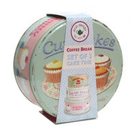 Set of 3 Coffee Break Cake Storage Tins Thumbnail 2