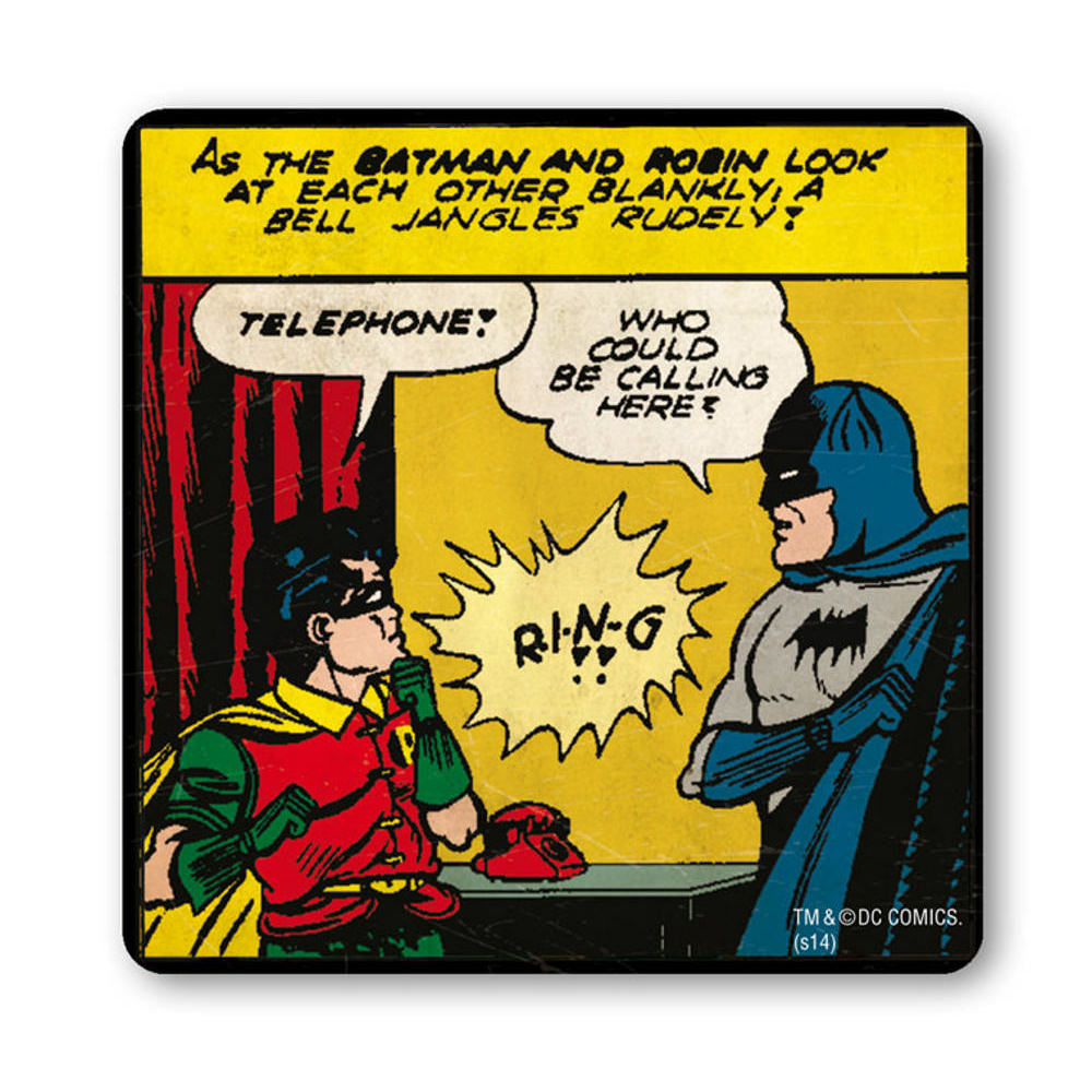 Batman & Robin Telephone Coaster