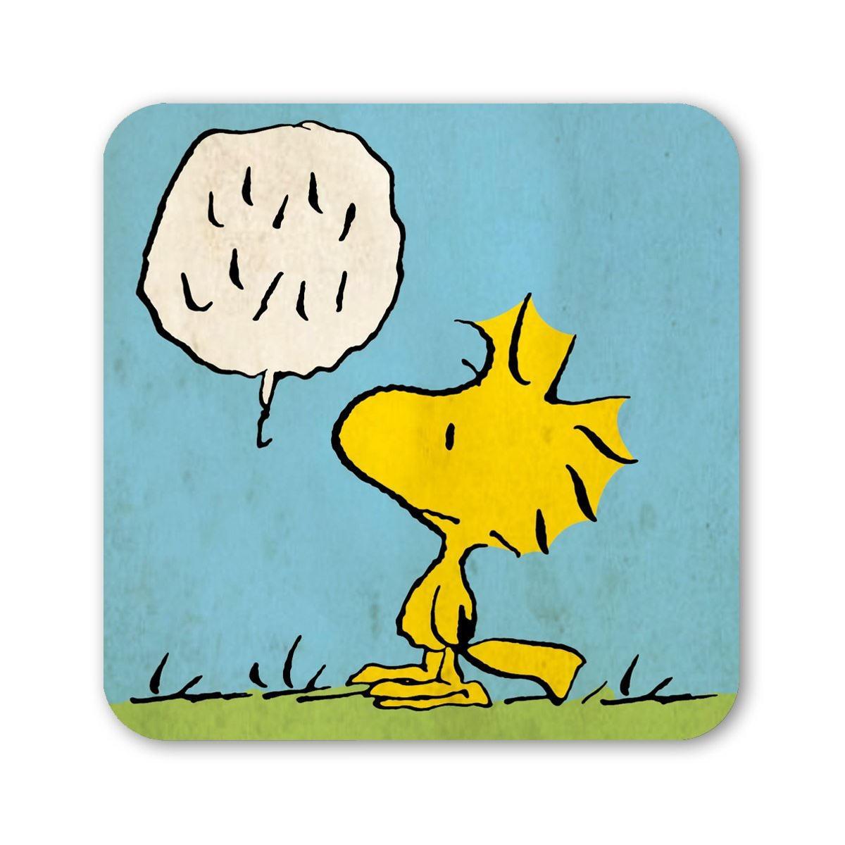 Woodstock Coaster Retro Drinks Mat Gift Peanuts Snoopy Dog