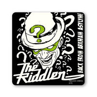 Black The Riddler Coaster Thumbnail 1