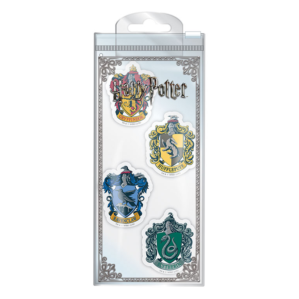 Set of 4 Harry Potter House Crests Erasers