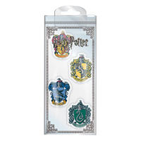 Set of 4 Harry Potter House Crests Erasers Thumbnail 1