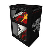Game of Thrones Stark & Targaryen Mug Coaster & Keyring Set Thumbnail 2