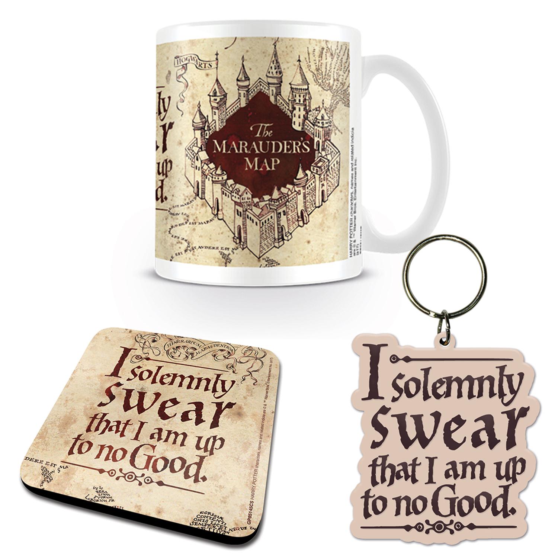 Harry Potter Marauder\'s Map Mug Coaster & Keyring Set | Standard ...