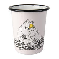 The Moomins Moomintroll & Snorkmaiden Together Forever 400ml Enamel Tumbler