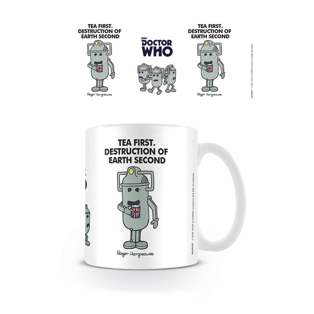 Doctor Who / Mr Men Cyberman Tea First Mug