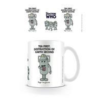 Doctor Who / Mr Men Cyberman Tea First Mug Thumbnail 1