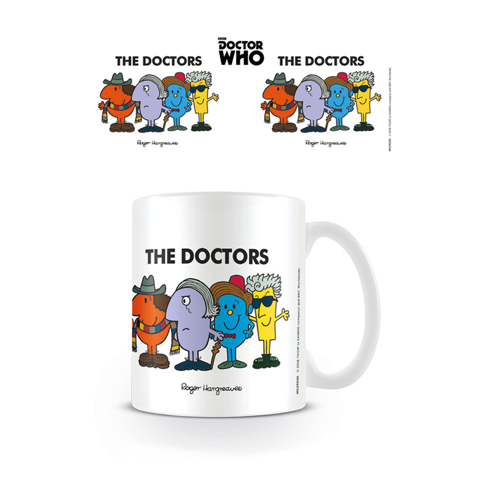 Doctor Who / Mr Men The 4 Doctors Mug