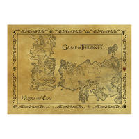 Game of Thrones Antique Map Postcard