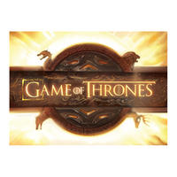 Game of Thrones Opening Credits Logo Postcard