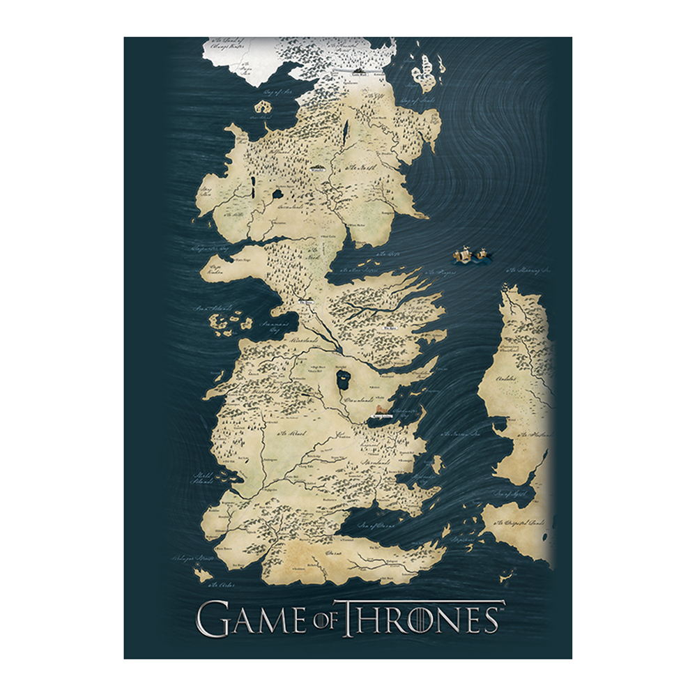Game of Thrones Westeros Map Postcard