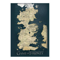 Game of Thrones Westeros Map Postcard Thumbnail 1