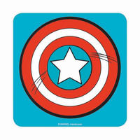 Captain America Shield Icon Coaster Thumbnail 1