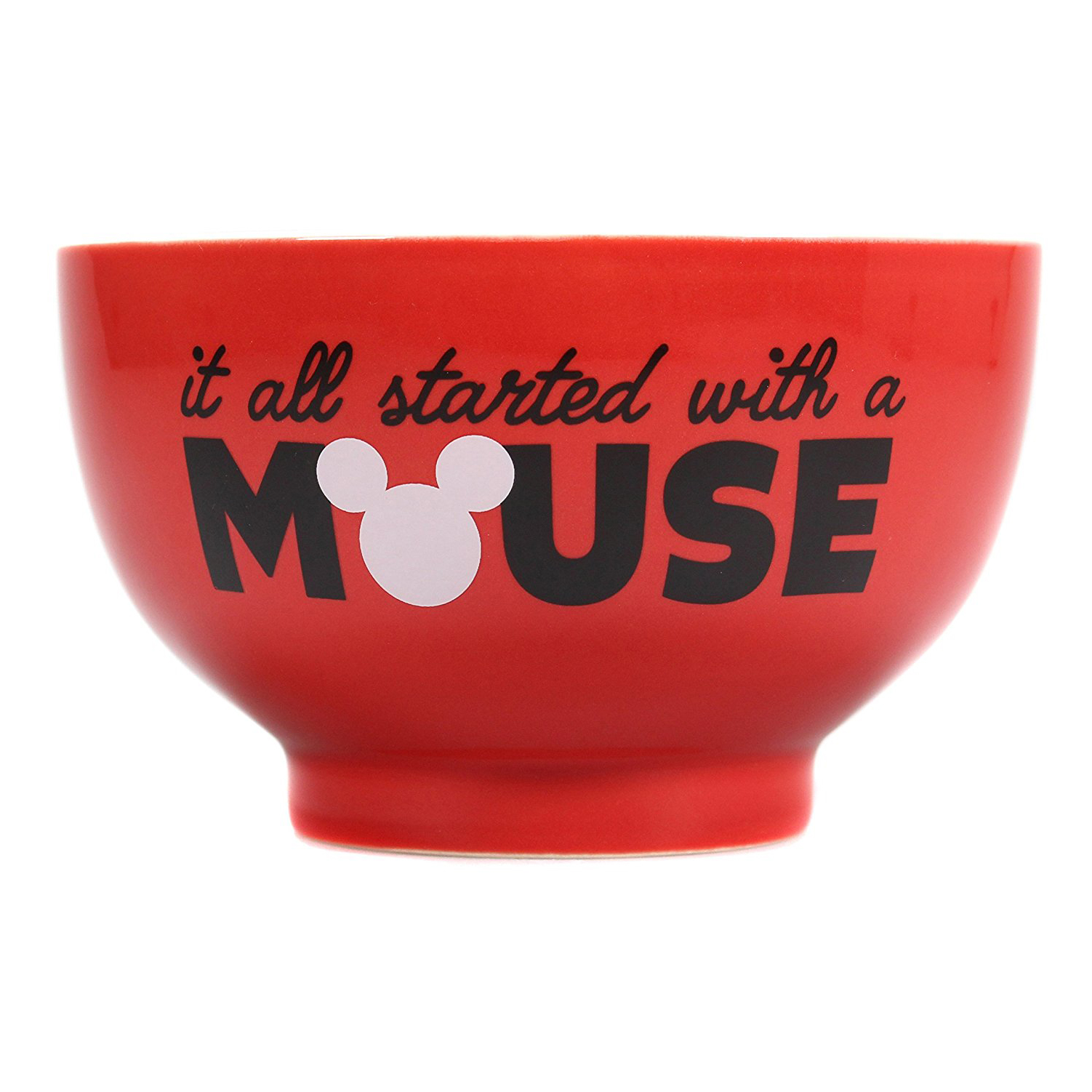 "Mickey Mouse ""It All Started With A Mouse"" Ceramic Bowl"