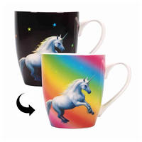 Anne Stokes Moonlight Unicorn Heat Change Mug Thumbnail 1