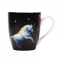 Anne Stokes Moonlight Unicorn Heat Change Mug Thumbnail 2