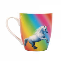 Anne Stokes Moonlight Unicorn Heat Change Mug Thumbnail 5
