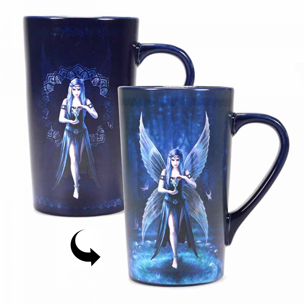 Anne Stokes Enchantment Fairy Heat Change Latte Mug