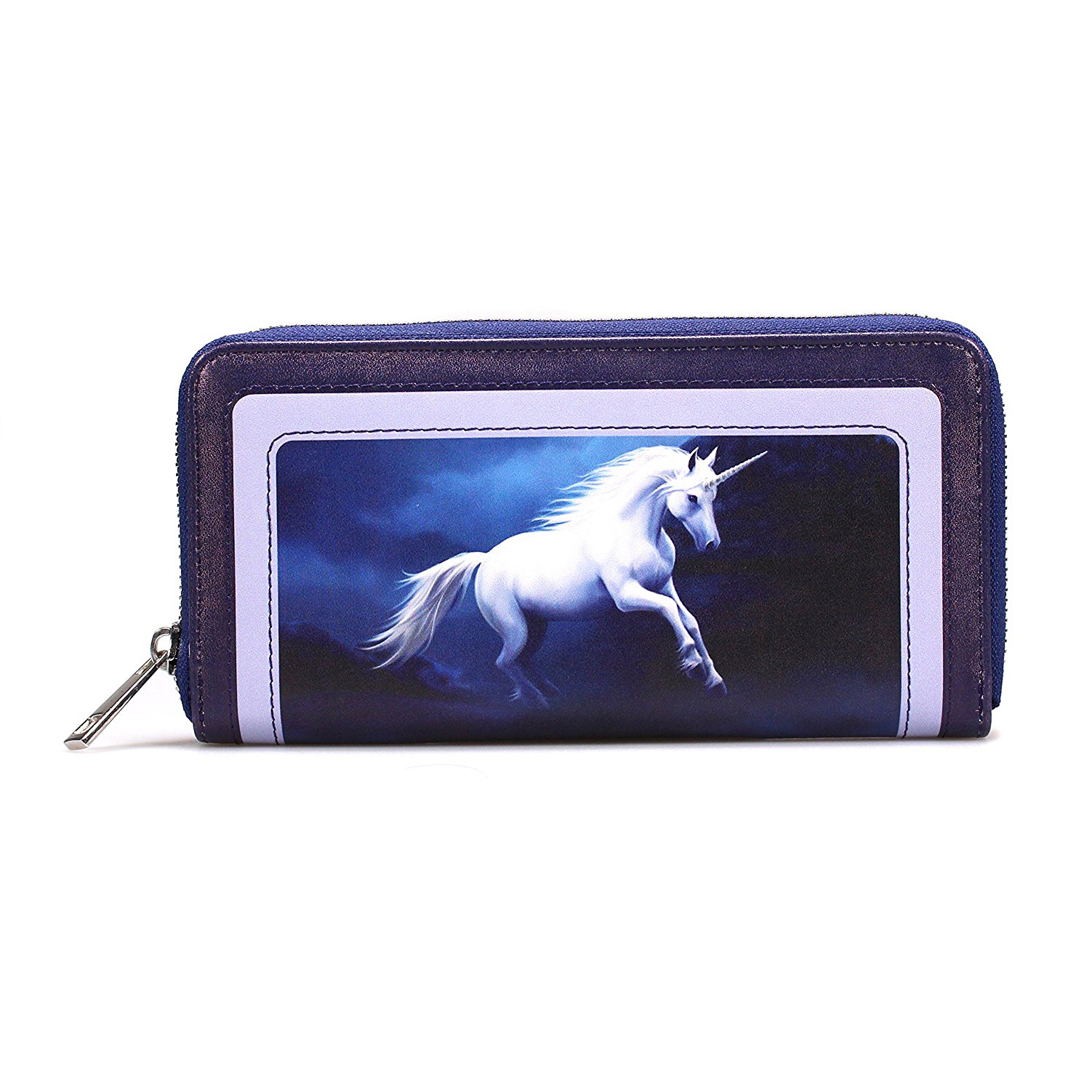 Anne Stokes Moonlight Unicorn Large Zipped Purse
