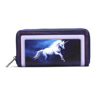 Anne Stokes Moonlight Unicorn Large Zipped Purse Thumbnail 1