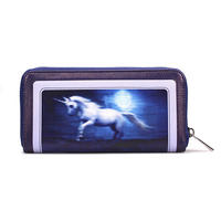 Anne Stokes Moonlight Unicorn Large Zipped Purse Thumbnail 2