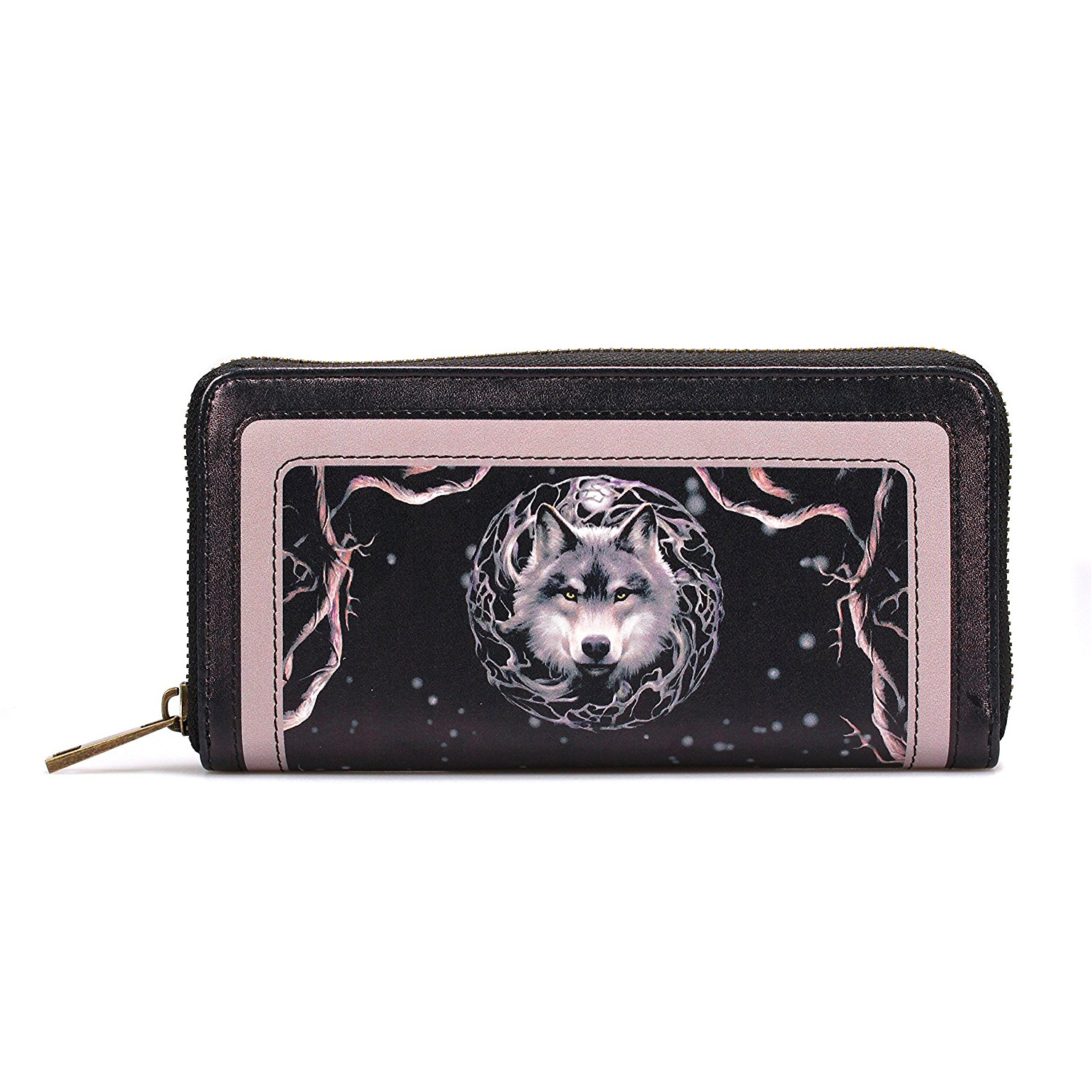 Anne Stokes Night Forest Wolf Large Zipped Purse