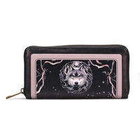 Anne Stokes Night Forest Wolf Large Zipped Purse Thumbnail 1