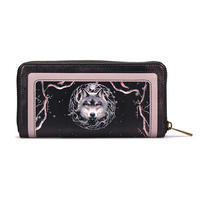 Anne Stokes Night Forest Wolf Large Zipped Purse Thumbnail 2