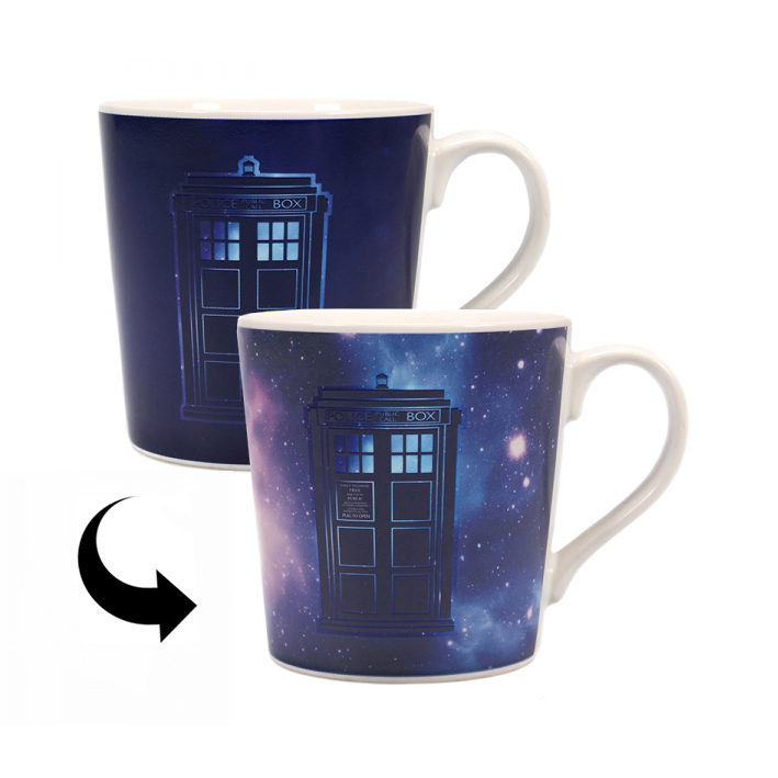 Doctor Who Tardis Galaxy Heat Change Mug