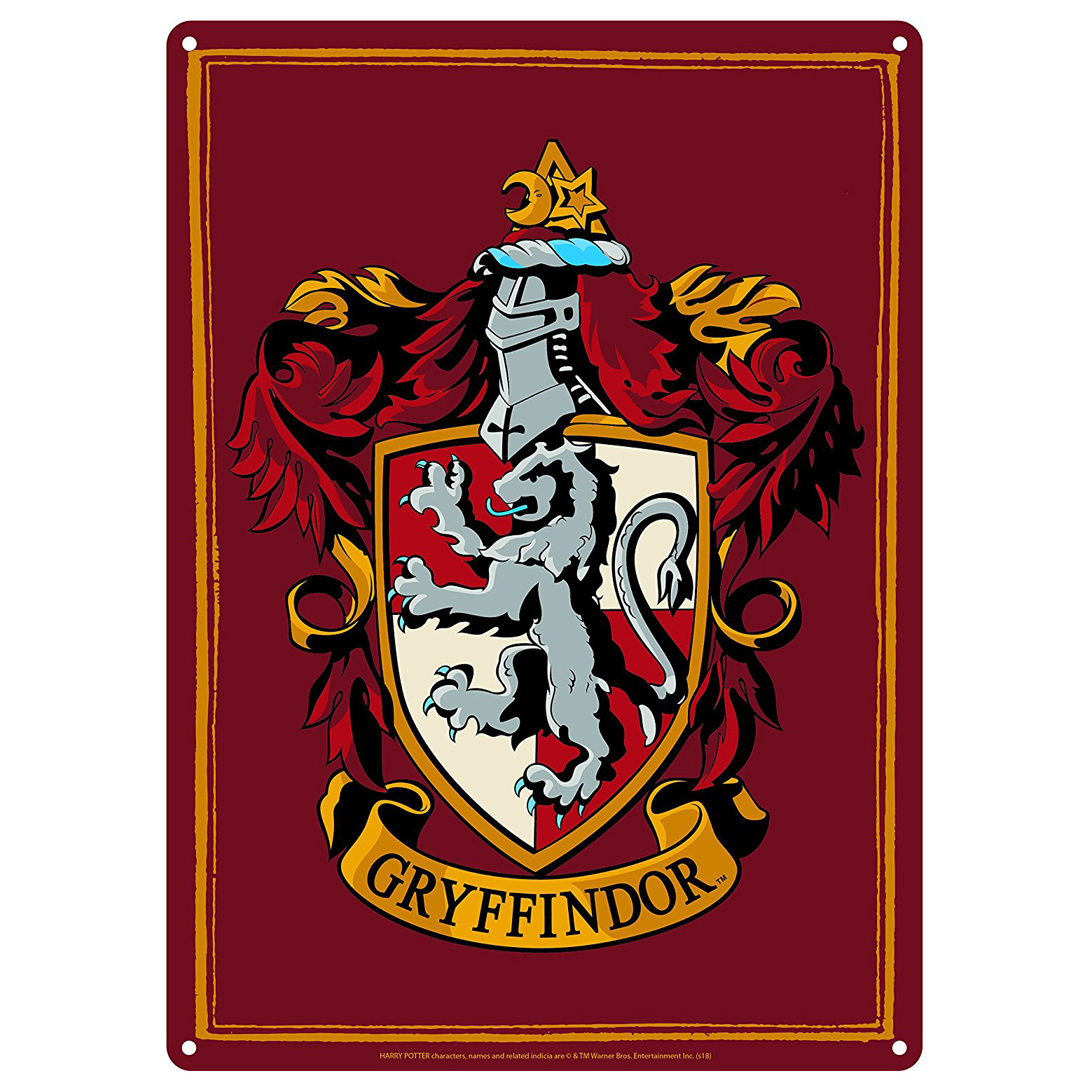 Harry Potter Gryffindor House Crest A5 Steel Sign