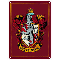 Harry Potter Gryffindor House Crest A5 Steel Sign Thumbnail 1