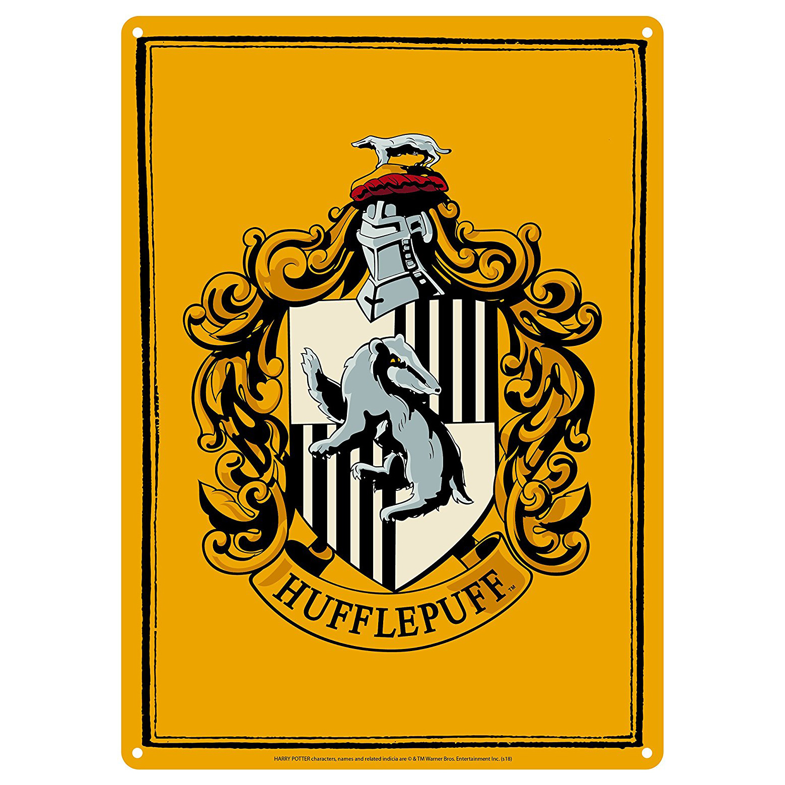Harry Potter Hufflepuff House Crest A5 Steel Sign