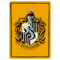 Harry Potter Hufflepuff House Crest A5 Steel Sign Thumbnail 1
