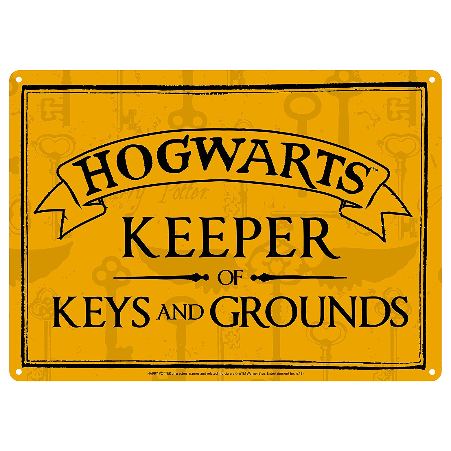 Harry Potter Hogwarts Keeper of Keys & Grounds A5 Steel Sign