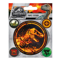 Jurassic World Fallen Kingdom Sheet of Vinyl Stickers