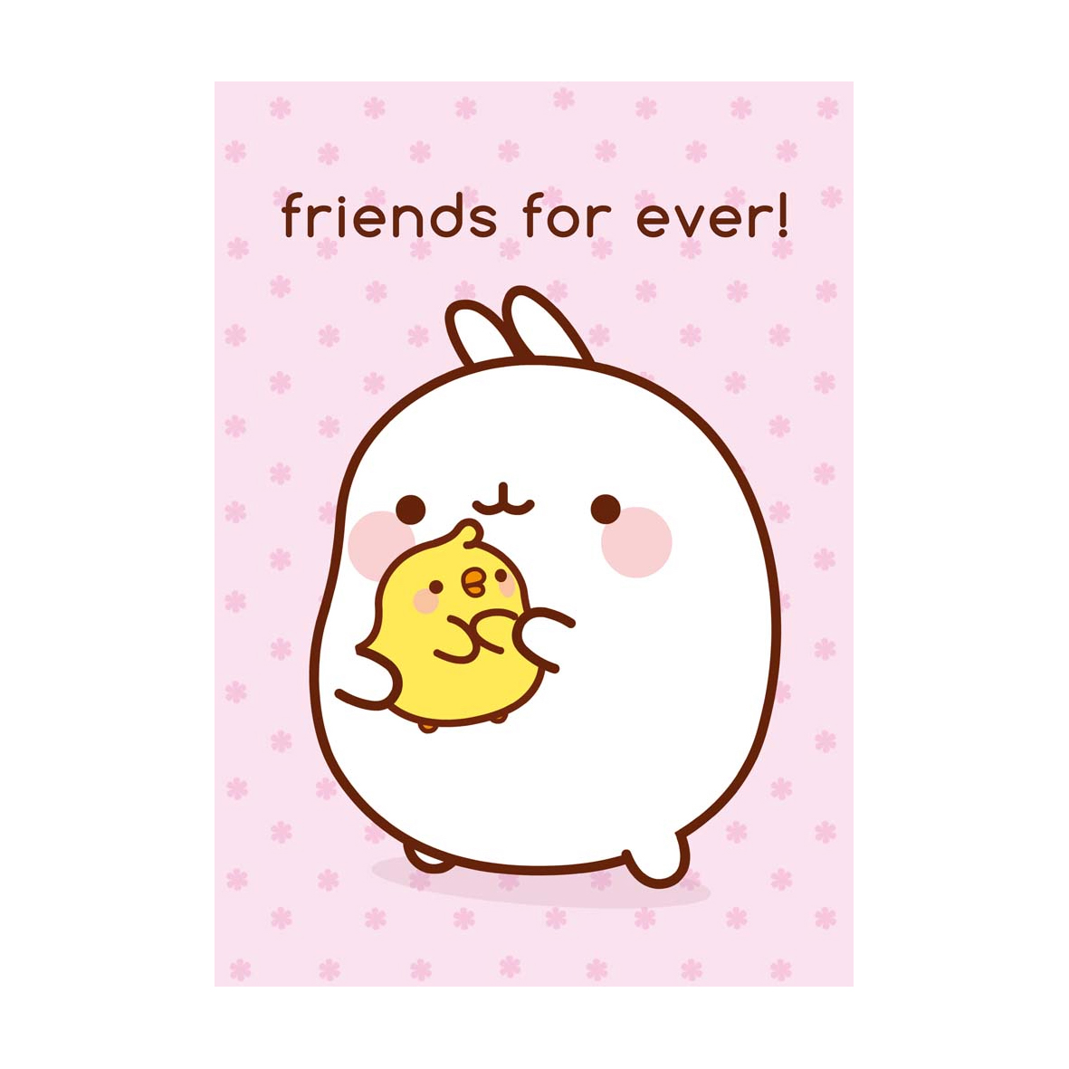Molang piu piu friends for ever greeting card cards wrap molang piu piu friends for ever greeting card m4hsunfo