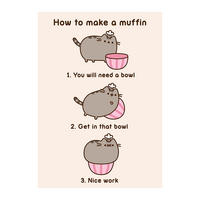 Pusheen How To Make A Muffin Greeting Card