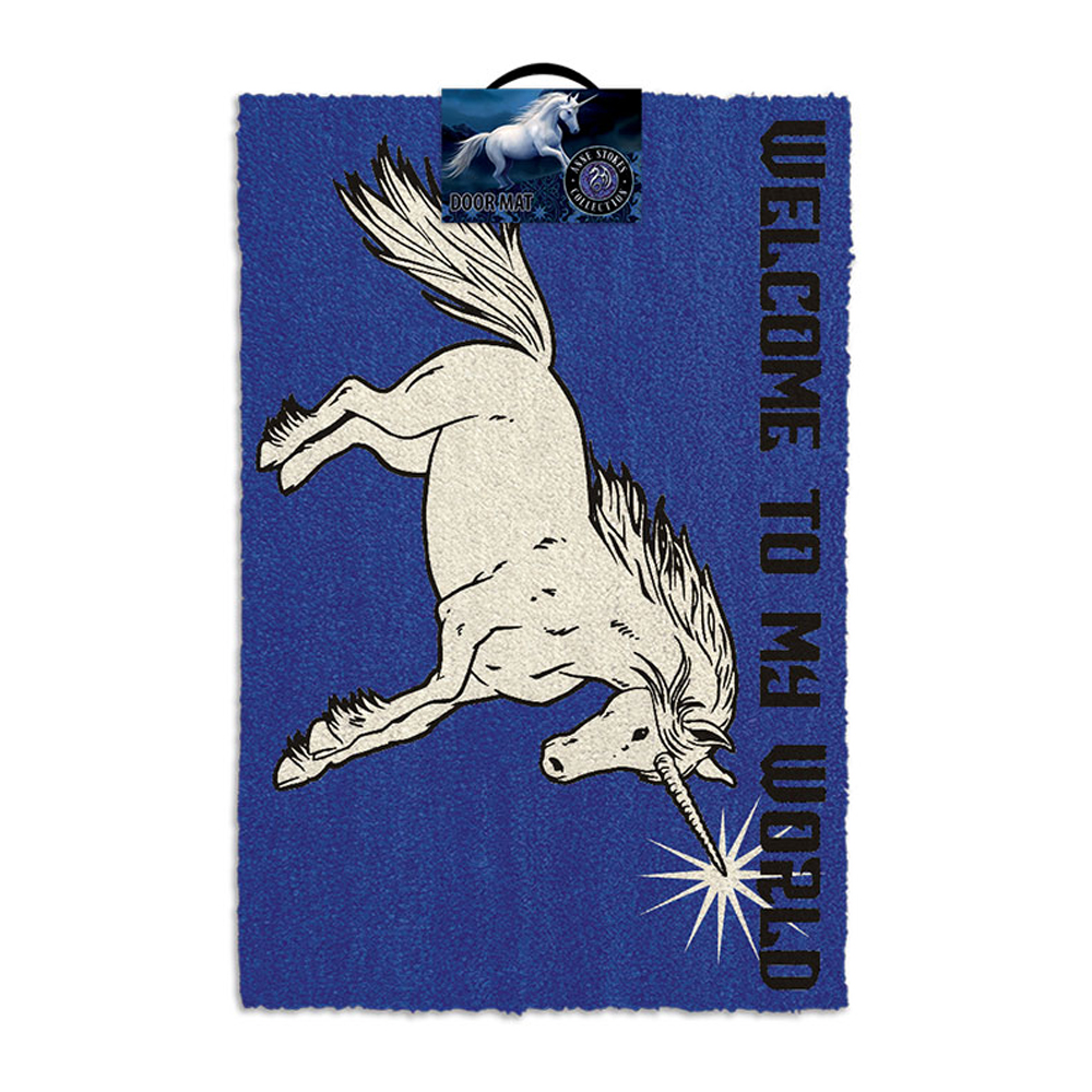 "Anne Stokes Unicorn ""Welcome To My World"" Door Mat"