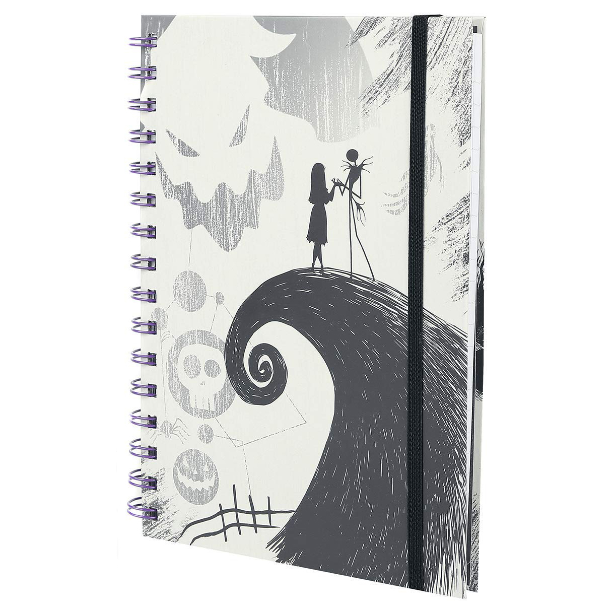 Nightmare Before Christmas Spiral Hill A5 Notebook | Notebooks ...