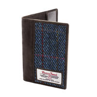 Passport Holder with Harris Tweed Dark Blue Allasdale Tartan Thumbnail 1