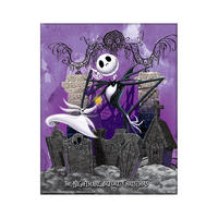 "Unframed The Nightmare Before Christmas Graveyard 3D Lenticular 10"" x 8"" Poster"