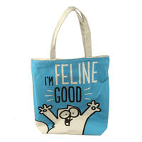 Simon's Cat I'm Feline Good Shopping Bag
