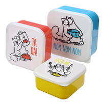 Set of 3 Simon's Cat Lunch Boxes