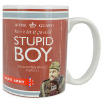 Dad's Army Brown Stupid Boy Mug