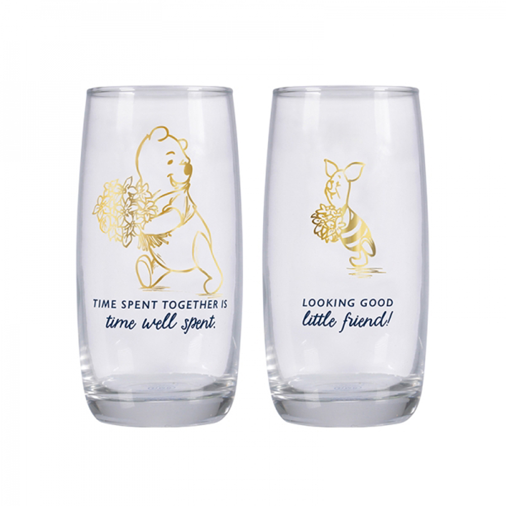 Set of 2 Winnie The Pooh & Piglet Glasses